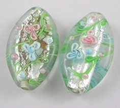 flower on outside Silver Foil Flat, Beading Supplies, Lampwork Beads, Flower Patterns, Glass Beads, Scrap, Carving, Sew, Flat, Flowers