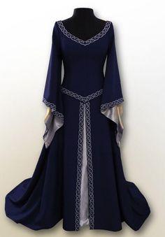 Medieval Gown, Renaissance Dresses, Elven Dresses, Medieval Outfits, Medieval Clothing, Long Dresses, Cosplay Dress, Costume Dress, Lolita Mode