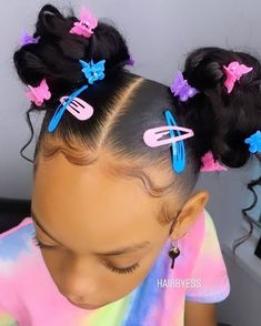 Lil Girl Hairstyles, Black Girl Braided Hairstyles, Cute Curly Hairstyles, Girls Natural Hairstyles, Baddie Hairstyles, Natural Hair Styles, Black Kids Hairstyles, Toddler Hairstyles, 10 Year Old Hairstyles