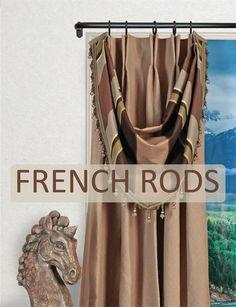 Custom French Iron Curtain Rod Bestwindowtreatments Com