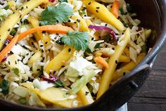 Asian Cabbage Mango Slaw...vegan and delicious!