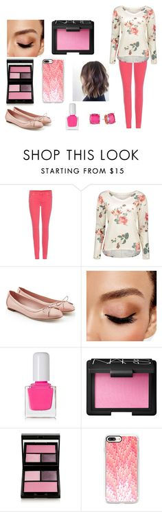 """Spring Outfit"" by shawnmendes-646 ❤ liked on Polyvore featuring 7 For All Mankind, Salvatore Ferragamo, Avon, tenoverten, NARS Cosmetics, Surratt, Casetify and Kate Spade"