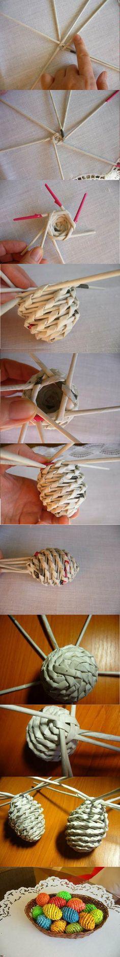 4 décorations de Pâques, faites de papier roulé!