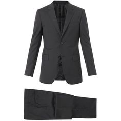GUCCI Brera pinstripe wool-blend suit (3.375 BRL) ❤ liked on Polyvore featuring men's fashion, men's clothing, men's suits, black, suits, mens slim fit suits, mens pinstripe suit, gucci mens clothing, mens slim suits and gucci mens suits
