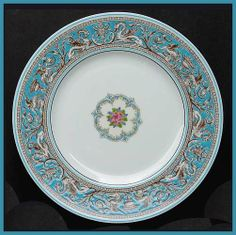 """Wedgewood """"Florentine"""" Turquoise:  it's my pattern...inherited, but mine just the same."""