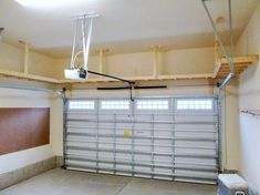 50 Brilliant Garage Storage Organization Ideas - BrowsyouRoom - - Everyone loves an organized home, but what about the garage? Making the best of the available garage storage space is easier said . Diy Overhead Garage Storage, Garage Storage Shelves, Diy Storage Bench, Garage Shelf, Storage Ideas, Tool Storage, Storage Hacks, Garage Signs, Storage Bins
