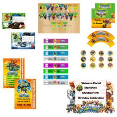 Skylanders Swap Force Birthday Party Invitation Package -SAME DAY SERVICE- Printable Invitation Custom -Print Your Own- Digital File