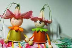 Blumenkinder aus Nespresso Kapseln Projects For Kids, Diy For Kids, Crafts For Kids, Diy Projects, Can Tab Crafts, Arts And Crafts, Recycled Crafts, Diy Crafts, Christmas Ornament Crafts