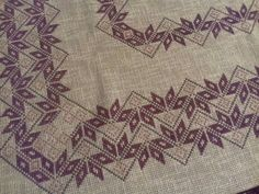 This Pin was discovered by Etl Hardanger Embroidery, Cross Stitch Embroidery, Cross Stitch Patterns, Hand Embroidery Design Patterns, Knitting Patterns, Drawn Thread, Sewing Lessons, Diy Curtains, Bargello