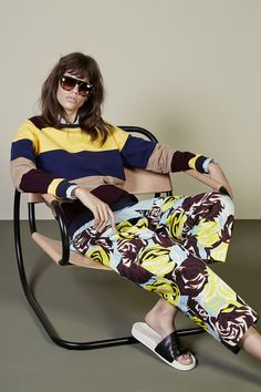 """Youthful Italian #fashion Mix  Match #stripes #floral ~ MSGM 