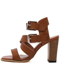 Light+Brown++Faux+Leather+Chunky+Gladiator+Sandals+34.99
