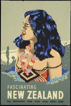 Maori Girl on tourism poster for New Zealand.
