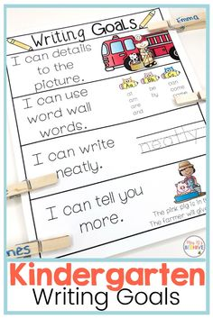 Help scaffold beginning writing skills with these writing goal posters. Students will get the skills they need to become independent and confident writers. Writing Goals, Writing Skills, I Can Tell, Told You So, Sounding Out Words, Phonics Games, Letter Formation, Help Teaching, Letter Sounds