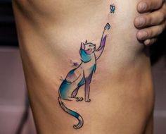 tatuaje gato acuarela - Buscar con Google