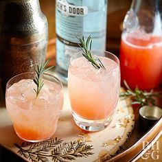 Rosemary-Grapefruit Gin Cocktail  Replace gin with vodka