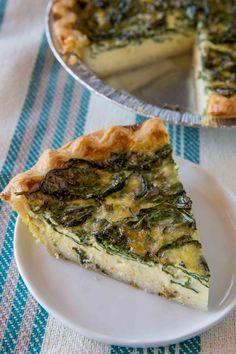 Easy Spinach Quiche Florentine.