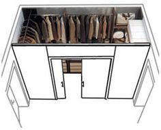 Cabina Armadio Dwg : Progetto cabina armadio dietro il letto a spazi separati closet