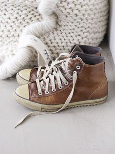 Fashion and Style: Brown hi-tops