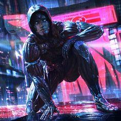 Dehumanization (Aggressive Modern Action Trailer) by RobertSlump on SoundCloud Sci Fi Wallpaper, Watercolor Wallpaper Iphone, Cyberpunk Kunst, Cyberpunk 2077, Iphone Wallpaper Inspirational, Android Art, Knight Art, Futuristic Art, Shadowrun