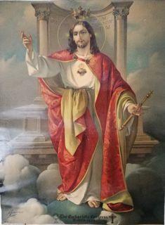 Heart Of Jesus, Jesus Is Lord, Jesus E Maria, Pictures Of Jesus Christ, Jesus Painting, Christ The King, Catholic Art, Sacred Heart, Christian Art