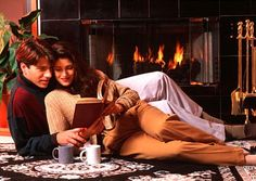 Reading a book together, taking turns reading chapters...sexy lil private 'book club' for couples Ha! While this is a dated (but fun) pic :) It's the idea that matters :))