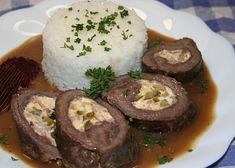 Bavorský závitek recept - TopRecepty.cz Steak, Pork, Beef, Treats, Kale Stir Fry, Meat, Sweet Like Candy, Goodies, Steaks