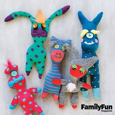 Our Sock Monster Madness gift jar contains all the materials needed for sewing these quirky creatures. Because the instructions are open-ended, the lucky recipient is free to make his monsters as whimsical as he likes.