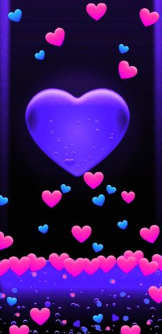 By Artist Unknown. Pink Wallpaper Girly, Bling Wallpaper, Pretty Phone Wallpaper, Heart Wallpaper, Love Wallpaper, Cellphone Wallpaper, Blue Wallpapers, Pretty Wallpapers, Wallpaper Backgrounds
