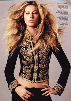 "Gisele Bündchen in Ralph Lauren - ""Blow Up"" by David Sims for US Vogue July 2006 by Winter Phoenix, via Flickr"