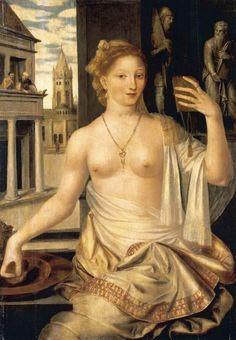 MASSYS, Jan  (b. ca. 1510, Antwerpen, d. 1575, Antwerpen)    Bathsheba Observed by King David  Oil on panel, 110 x 76 cm