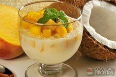 Receita de Gelatina de coco e manga - Comida e Receitas