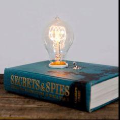 TypeWriterBoneyard - Book Lamp