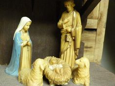 Please visit my shop on Etsy.  Vintage nativity set / nativity scene / by cgraceandcompany