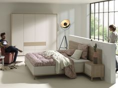 bedroom white modern design with a haze of Scandinavia - Mila-collection - Master Bedroom