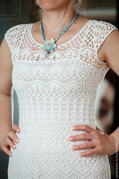 Купить или заказать Платье вязаное крючком 'Лето' в интернет-магазине на Ярмарке Мастеров. Вот и лето пришло!!! А какое же лето без красивого платья? Вязаное крючком платье 'Лето' - ажурное, легкое и приятное к телу, выполнено из качественного мерсеризованного хлопка. Нижнее платье из 100% вискозы. Цена с учетом нижнего платья для размеров 44-46. Если Вам понравились мои работы, вы можете получать информацию о новинках, нажав кнопку слева 'Добавить в свой круг'.
