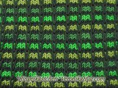 Stricken - Hebemaschen Ringelkästchen - Veronika Hug - YouTube