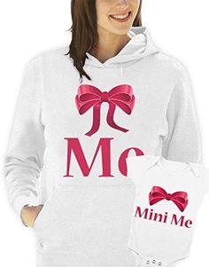 """Sudadera con capucha y body día de la madre """"me-mini me hombre mujer todas las tallas S, M, L XL Camiseta by tshirteria XXL blanco Talla:Small donna (18- 24 mesi) #camiseta #starwars #marvel #gift"""