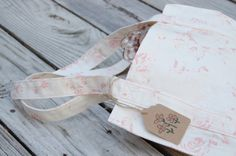 French market everyday tote made with Ralph Lauren rose fabric, breast cancer fund