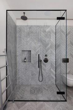 Visgraat tegels in de badkamer - Woontrendz
