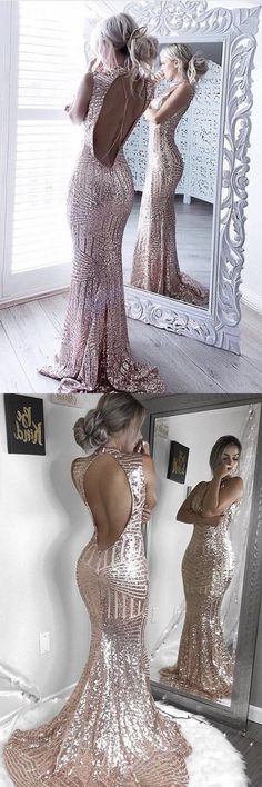 2020 Scoop Sequins Prom Dresses Mermaid/Trumpet Sweep PZBM18F8, This dress could be custom made, there are no extra cost to do custom size and color