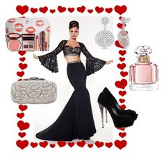 """Evening Out Set No. 460"" by vintagelady52 ❤ liked on Polyvore featuring Allurez, Casadei, Oscar de la Renta, Charlotte Tilbury and Guerlain"