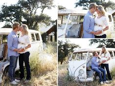 Twins Maternity Session with vintage bus Maternity Session, Maternity Pictures, Friends Pregnant Together, Family Photos, Couple Photos, Pregnancy Style, Dark Jeans, Twin Sisters, Baby Bumps