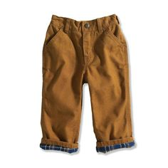 Carhartt Baby Boys' Washed Canvas Dunagree, Carhartt Brown, 9 Months
