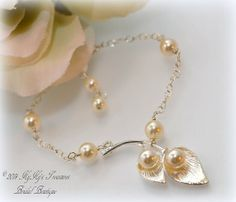 Bridal Bracelet Bridesmaid Bracelet Calla by KyKysTreasuresBridal, $21.00