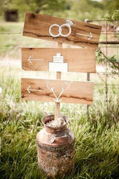 rustic wedding signage - comunicação visual rústica