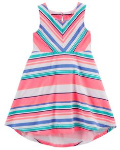 Toddler Girl Striped Hi-Lo Jersey Dress | Carters.com