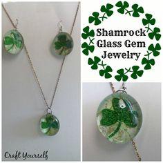 Shamrock Glass Gem Jewelry - craftyourself.com