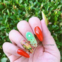 fall nail designs Cute Nails For Fall, Beauty Zone, Seasonal Nails, Fall Nail Art Designs, Fall Patterns, Leaf Coloring, Fabulous Nails, Beautiful Nail Art, Yellow And Brown