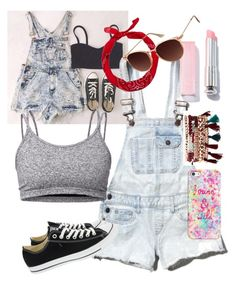 """""""Casual summer look"""" by queen-alex2002 on Polyvore featuring Abercrombie & Fitch, Converse, Lija, Jessica Carlyle, Casetify, New Look and Topshop"""
