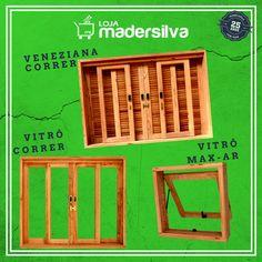 Vitrôs e Venezianas de Madeira.